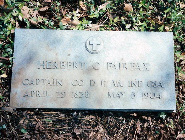 New H. C. Fairfax Marker